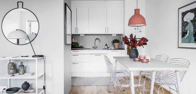 дизайн маленькой кухни студии