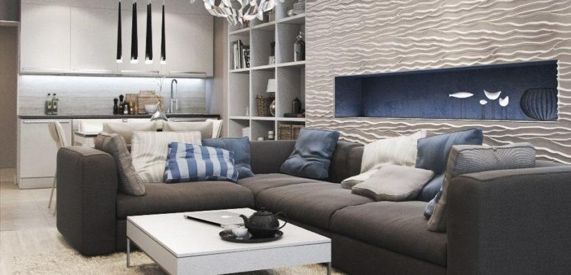 зонирования однокомнатной квартиры