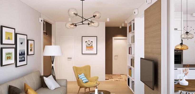 Дизайн маленькой однокомнатной квартиры - просто и красиво
