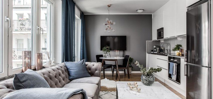 21 дизайн маленькой квартиры-студии