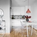 Дизайн маленькой кухни-студии в квартире