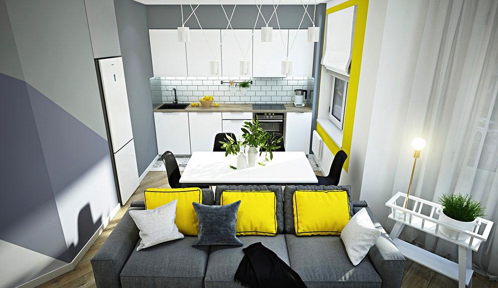 дизайн кухні 6 кв м
