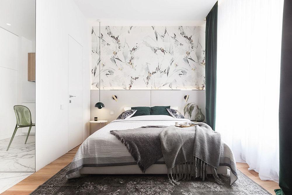дизайн маленькой однокомнатной квартиры с нишей