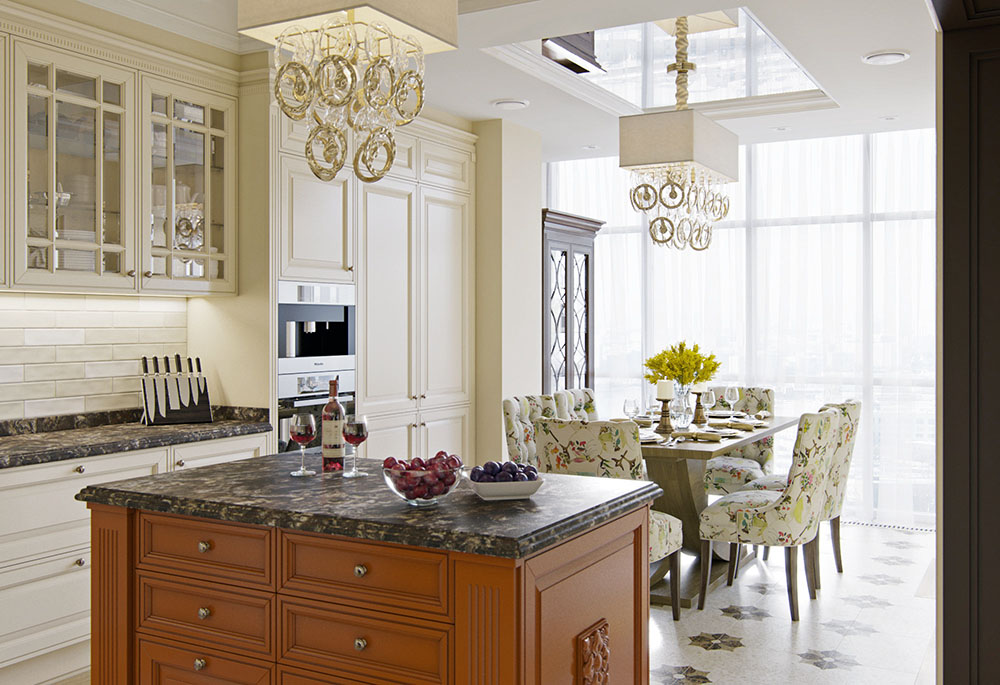 дизайн кухні в приватному будинку