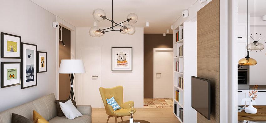 Дизайн маленькой однокомнатной квартиры — просто и красиво