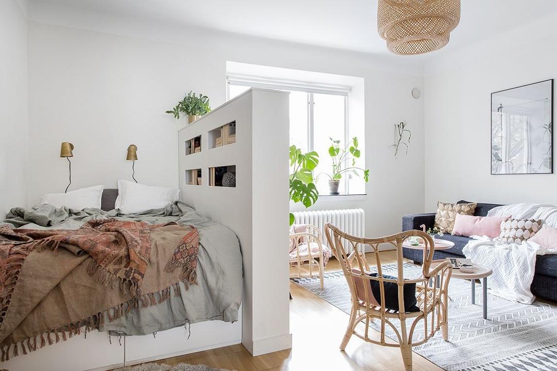 інтер'єр 1 кімнатної квартири