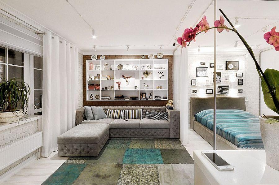 дизайн однокімнатної квартири студії