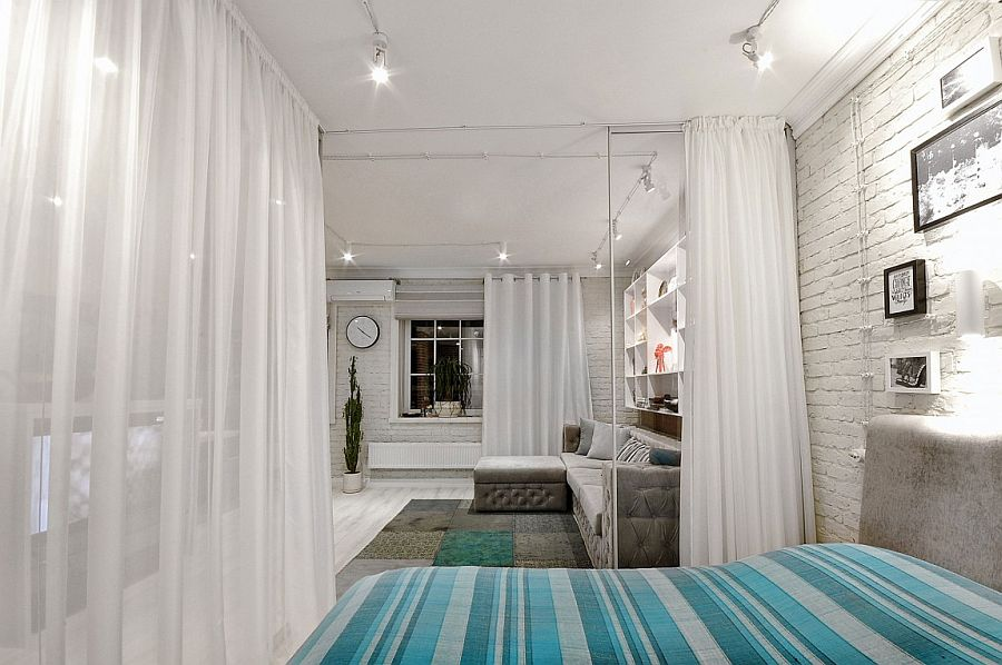 дизайн однокімнатної квартири з поділом зон