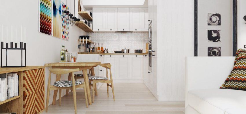 Дизайн однокомнатной квартиры-студии — 15 фото
