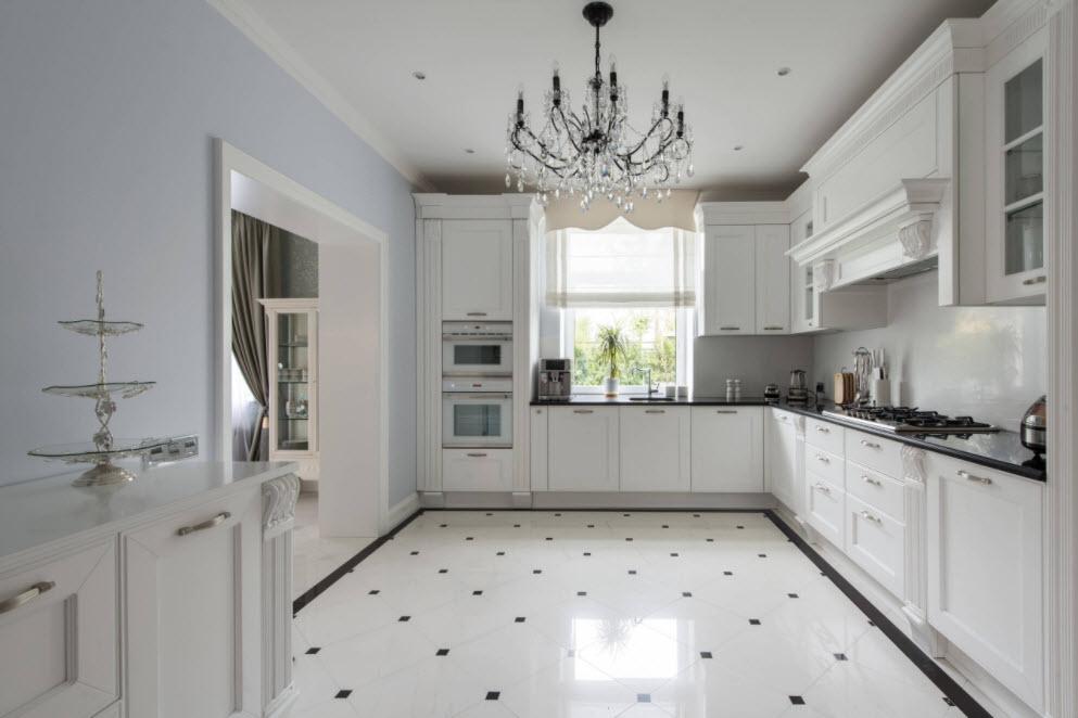 интерьер кухни в стиле современная классика