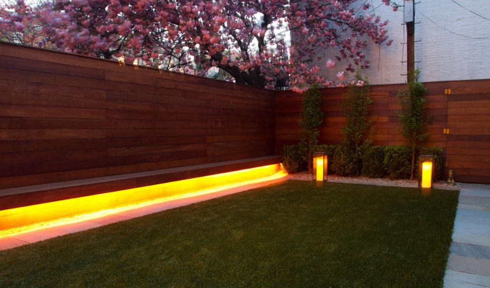 освещение в саду
