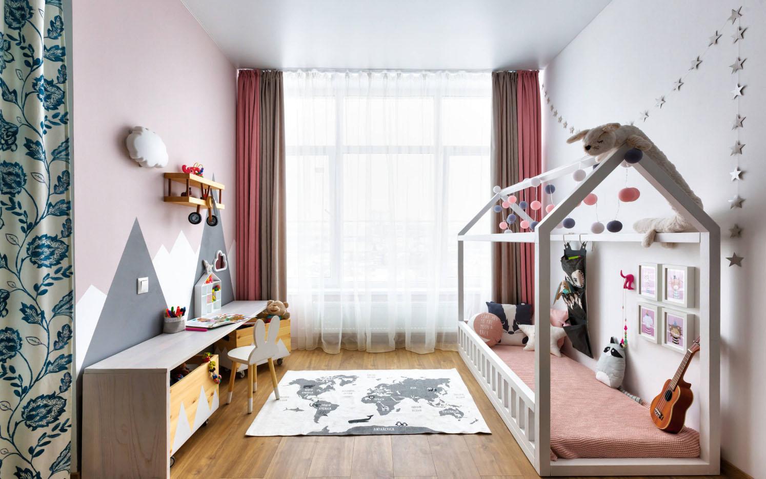 дизайн 1 комнатной квартиры для семьи с ребенком