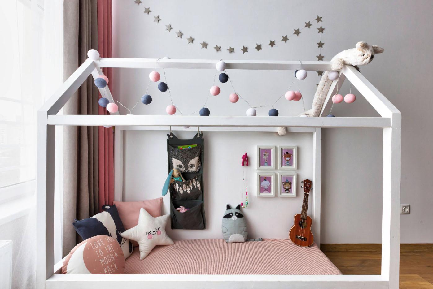 интерьер однокомнатной квартиры для семьи с ребенком