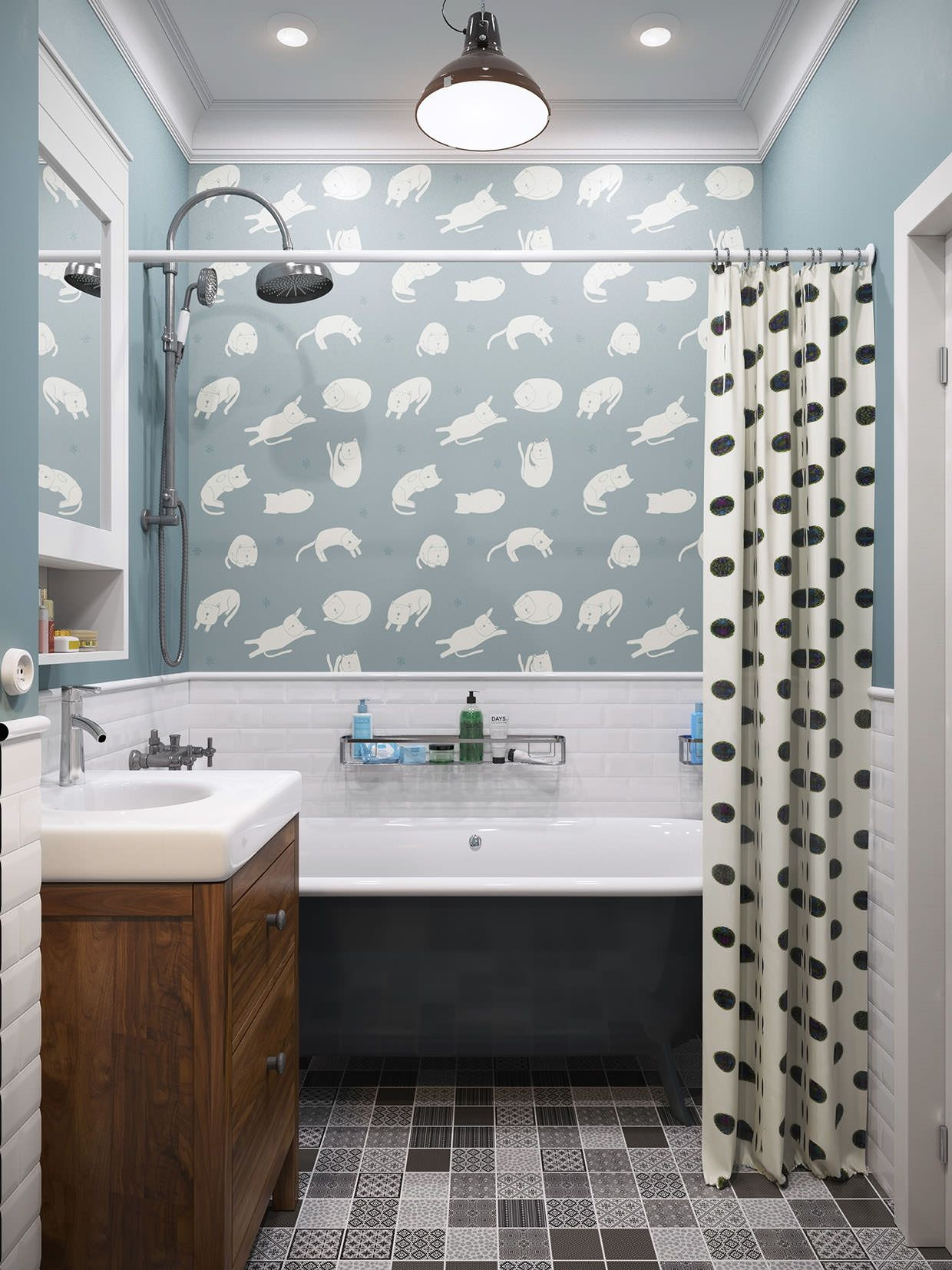Ванная комната в ретро стиле