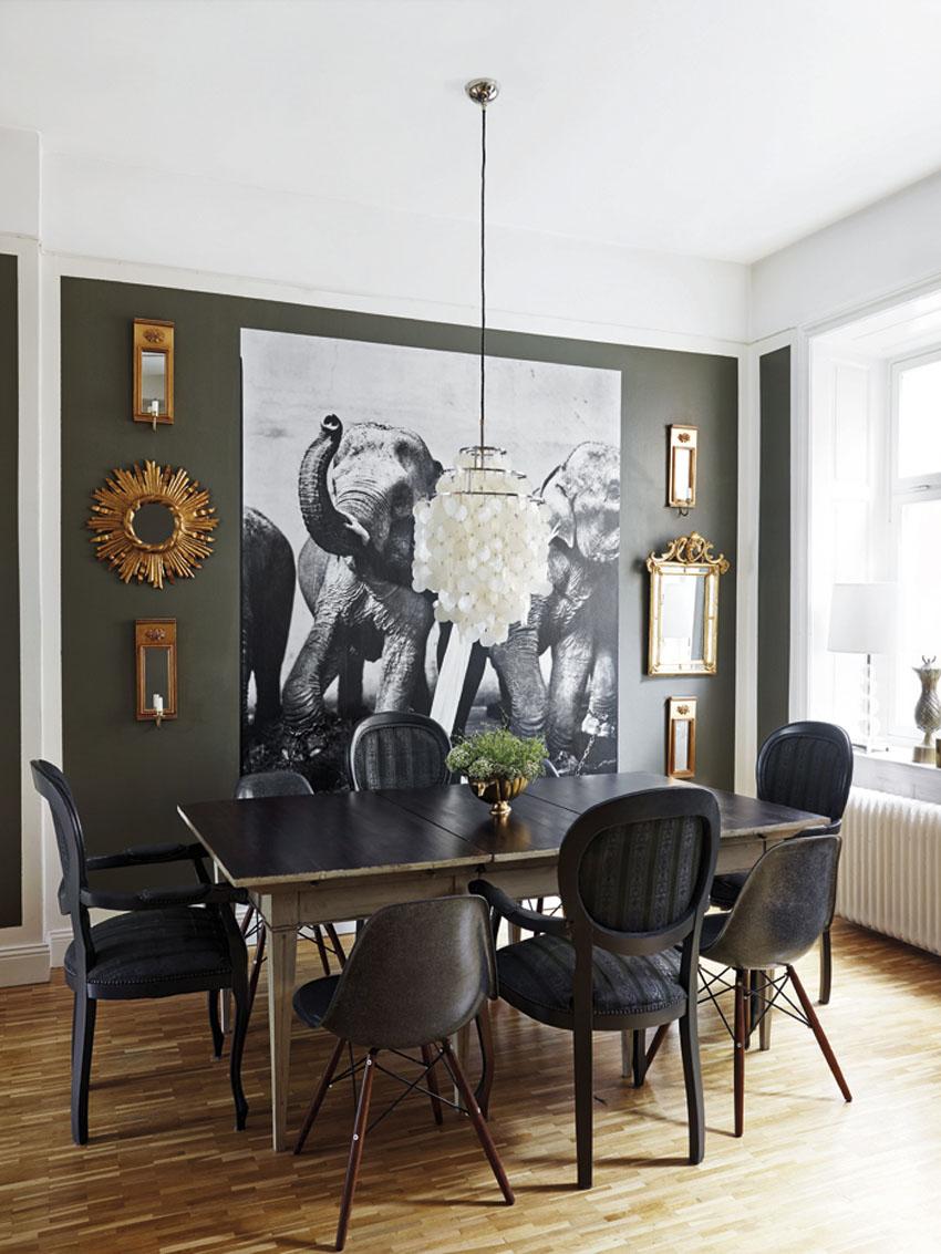 Красивая столовая комната