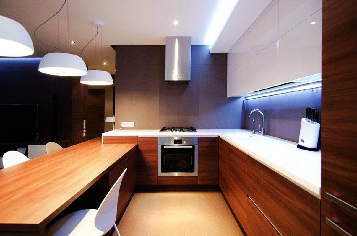 кухня мдф белый глянец